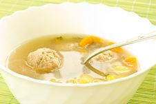 Free Soup With Meatballs Royalty Free Stock Photo - 20565745