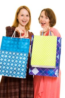 Free Girls With Shopping Royalty Free Stock Photo - 20565815