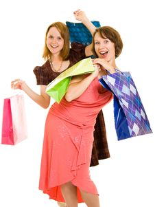 Free Girls With Shopping Royalty Free Stock Images - 20565859