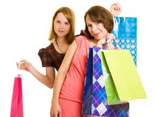 Free Girls With Shopping Stock Image - 20565871