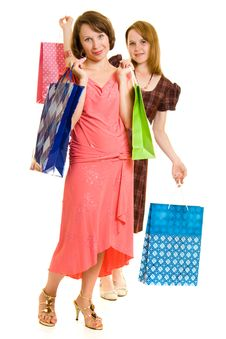 Free Girls With Shopping Stock Photography - 20565882