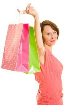 Free Girl With Shopping Stock Photography - 20565972