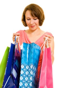 Free Girl With Shopping Royalty Free Stock Photography - 20566157