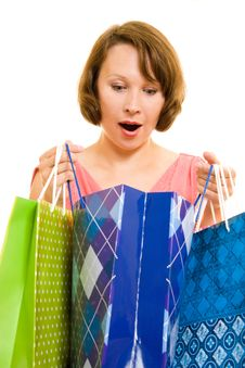 Free Girl With Shopping Stock Photography - 20566232
