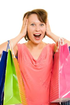 Free Girl With Shopping Royalty Free Stock Photo - 20566295