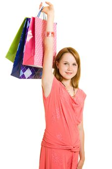 Free Girl With Shopping Stock Image - 20566491