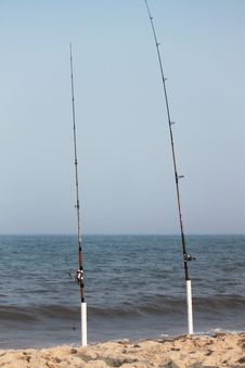 Free Beach Fishing Royalty Free Stock Photos - 20567008