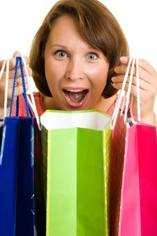 Free Girl With Shopping Royalty Free Stock Images - 20567029