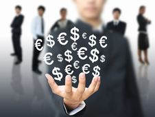 Free Businessman Holding Money Stock Photos - 20567093