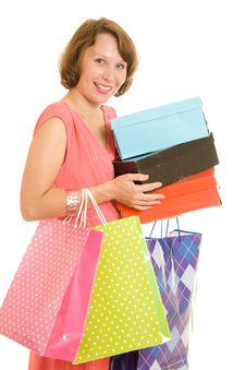 Free Girl With Shopping Royalty Free Stock Images - 20567159
