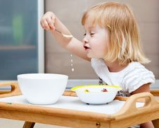 Free A Small Girl Is Eating Stock Photos - 20567223