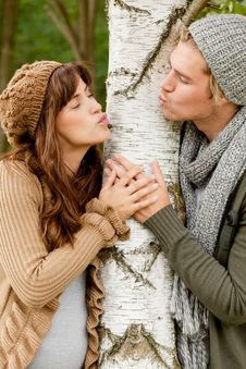Free Kissing Around A Tree Stock Images - 20567444