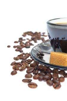 Free Closeup Shot Of Italian Espresso With Coffe Beans Stock Images - 20567594
