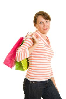 Free Girl With Shopping Stock Image - 20567711