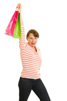 Free Girl With Shopping Stock Images - 20567734