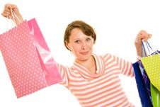 Free Girl With Shopping Stock Photography - 20567822