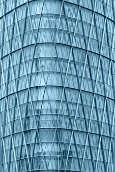 Modern Skyscraper Glass Windows Wall Royalty Free Stock Images