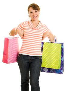 Free Girl With Shopping Royalty Free Stock Photos - 20567878