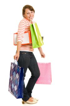 Free Girl With Shopping Stock Images - 20567974