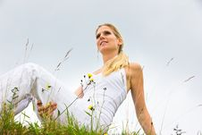 Free Girl In Grass Stock Photo - 20568290