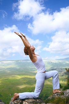 Free Female Gymnastics On The Rock Stock Photos - 20569273