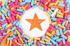 Free Orange Star Royalty Free Stock Image - 20569416