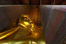 Free Face Of Reclining Buddha Wat Pho. Royalty Free Stock Photos - 20569558