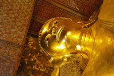 Free Face Of Reclining Buddha Wat Pho. Stock Image - 20569711
