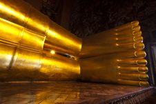 Free Big Foot Reclining Buddha In Wat Pho. Royalty Free Stock Photo - 20569795