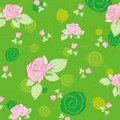 Free Green Pattern With Rose Stock Photography - 20572082