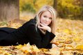 Free Autumn Portrait Of Blonde Girl Royalty Free Stock Photos - 20573398