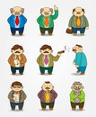 Free Cartoon Boss And Manager Icon Set Stock Photography - 20574072