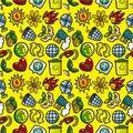 Free Seamless Eco Icon Pattern Royalty Free Stock Photos - 20574088