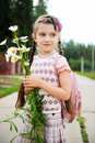 Free Young Girl With Pink Bagpack Ready For School Stock Photos - 20576333