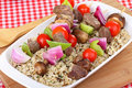 Free Beef And Vegetable Kabobs Royalty Free Stock Images - 20579229