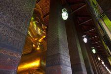 Free Reclining Buddha Wat Pho In Bangkok Thailand. Royalty Free Stock Image - 20570016