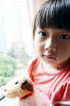 Free Asian Child Holding The Toy Dog Royalty Free Stock Photography - 20570287