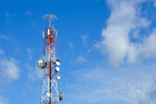 Free Communication Tower Over A Sky Stock Photos - 20570633