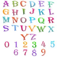 Free Alphabet And Number Set Stock Images - 20570834