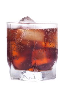 Free Cold Cola With Ice Royalty Free Stock Photography - 20571107