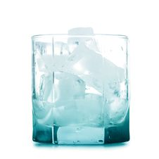 Empty Glass With Ice Stock Image
