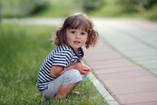 Free Sitting Young Boy Royalty Free Stock Image - 20571206