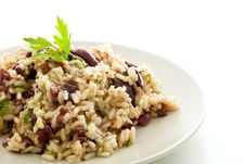 Risotto With Black Olives Royalty Free Stock Photography