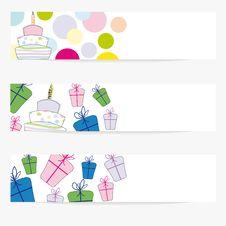 Free Birthday Baners Royalty Free Stock Image - 20571636