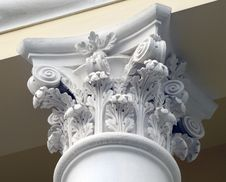 Building Part In Classical Style Stock Images