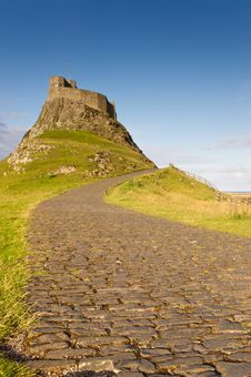 Free Road To Lindisfarne Castle Stock Images - 20571954