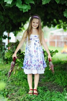 Free Girl With Beetroots Stock Images - 20572154