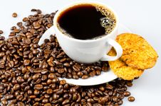 Free Coffee With Cookies Stock Images - 20572434