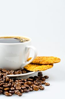 Free Coffee With Cookies Stock Photography - 20572442