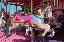 Free Merry Go Around Carousel Horse Royalty Free Stock Images - 20573109